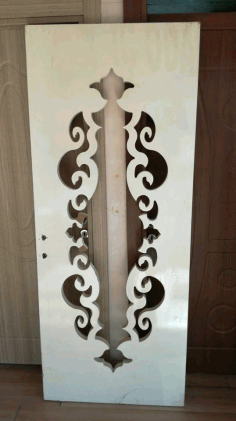 Mdf Door Engraving Design s5 Free DXF File