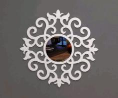 Mirror Frame Ayna Round Free DXF File