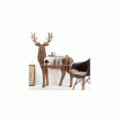 Olen (deer) v11 Free DXF File