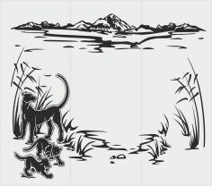 Abstract Sandblasting Drawing Animals Free CDR Vectors Art