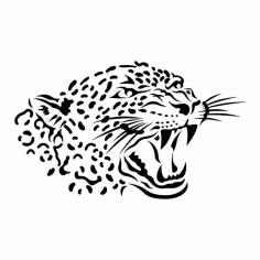 Animal Leopard Stencil Silhouette Free CDR Vectors Art
