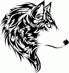 Animal Wolf Stencil Free CDR Vectors Art