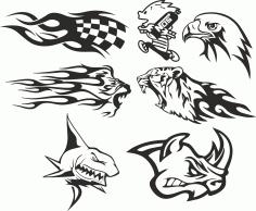 Car Stickers Decoration Free CDR Vectors Art