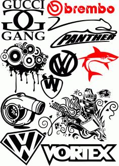 Epic Sticker Bomb Logo Free CDR Vectors Art