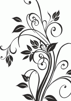 Floral Plant Silhouettes Free CDR Vectors Art