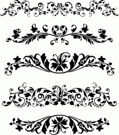 Laser Cut Ornaments Set Free CDR Vectors Art
