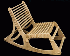 Laser Cut Wooden Chair 3d Puzzle Free CDR Vectors Art
