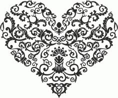 Swirl Shaped Heart Free CDR Vectors Art