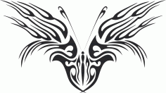 Tattoo Tribal Butterfly Free CDR Vectors Art