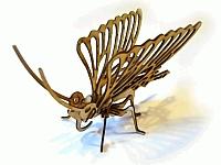 Laser Cut 3d Puzzle Butterfly Template Free CDR Vectors Art