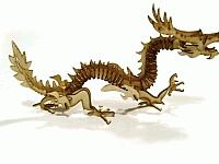 Laser Cut 3d Puzzle Golden Dragon Template Free CDR Vectors Art