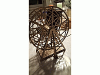 Ferris Wheel Laser Cut Design Template Free DXF File