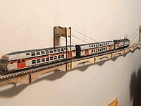 Ho Scale Wall Mount Bridge Laser Cut Design Template Free DXF File