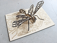 Laser Cut 3d Puzzle Bee Template Free DXF File