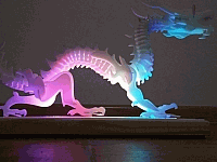 Laser Cut 3d Puzzle Dragon Lamp Template Free DXF File