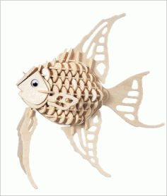 Laser Cut 3d Puzzle Fish Template Free DXF File