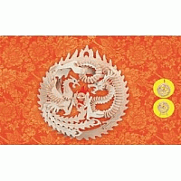 Laser Cut 3d Puzzle Lucky Dragon Template Free DXF File