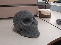 Laser Cut 3d Puzzle Plastic Corrugated Skull Template Free DXF File