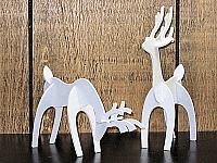 Laser Cut 3d Puzzle Small Deer Template Free DXF File