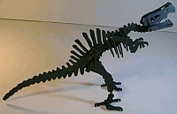 Laser Cut 3d Puzzle Spinosaurus Template Free DXF File
