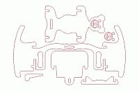Laser Cut 3d Puzzle Tbear Rocker Template Free DXF File
