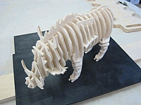 Laser Cut 3d Puzzle Wild Boar Template Free DXF File