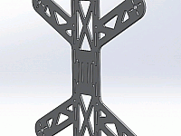 Quadcopter 250 Frame Laser Cut Design Template Free DXF File