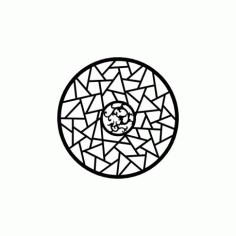 Circle Geometric Ornament Vector Free DXF File