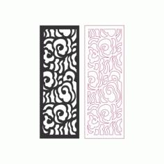 LaserCut Door Panel Pattern Free DXF File
