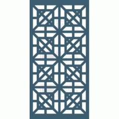 Mdf laser-cut Panel Free DXF File