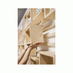 Modular Shelving Units Diy 3d Puzzle Free DXF File