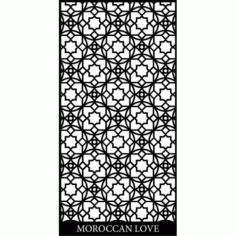 Moroccan Screen Design Pattern Free DXF File