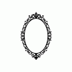 Ornate Oval Frame Wall Sticker Wall Decals Free DXF File