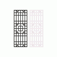Outdoor Privacy Screen Panels Fence Divider Pattern Free DXF File