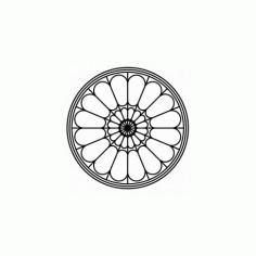 Floral circle Design Free DXF File