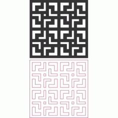 Seamless Maze Pattern Free DXF File