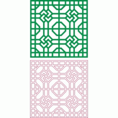 Square Design Pattern Free DXF File