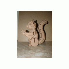 Squirrel For Sarah 3D Puzzle Free DXF File