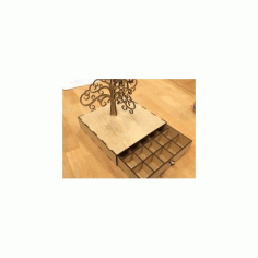 Laser Cut Tree Of Life Jewelry Box Free DXF File