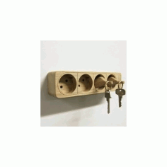 Wall Mounted Key Holder Free DXF File