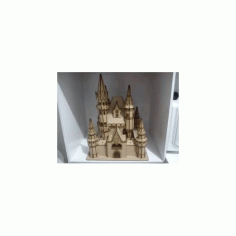 Zamok Disney Castle Free DXF File