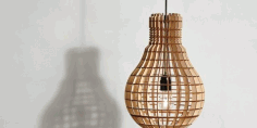 4mm Laser Cut Light Bulb Shape Lamp Free CDR Vectors Art