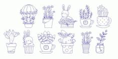 Engraving Elements Bunny Rabbit Free CDR Vectors Art