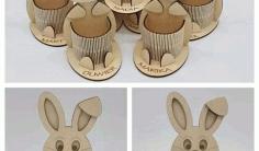 Hare Easter Organizer Laser Cut Free CDR Vectors Art