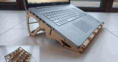 Laptop Stand To Laser Cut Free CDR Vectors Art