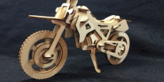 Motocross 3d Puzzle Wood Cut Laser Plan Free CDR Vectors Art