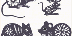 Mouse Laser Cut Template Archive Free CDR Vectors Art