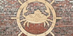 Captain Crab Cnc Cut Laser Free DXF File