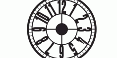 Clock To Laser Cut Download Free DXF File