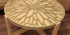 Cnc Table Decor Pattern Round Free DXF File
